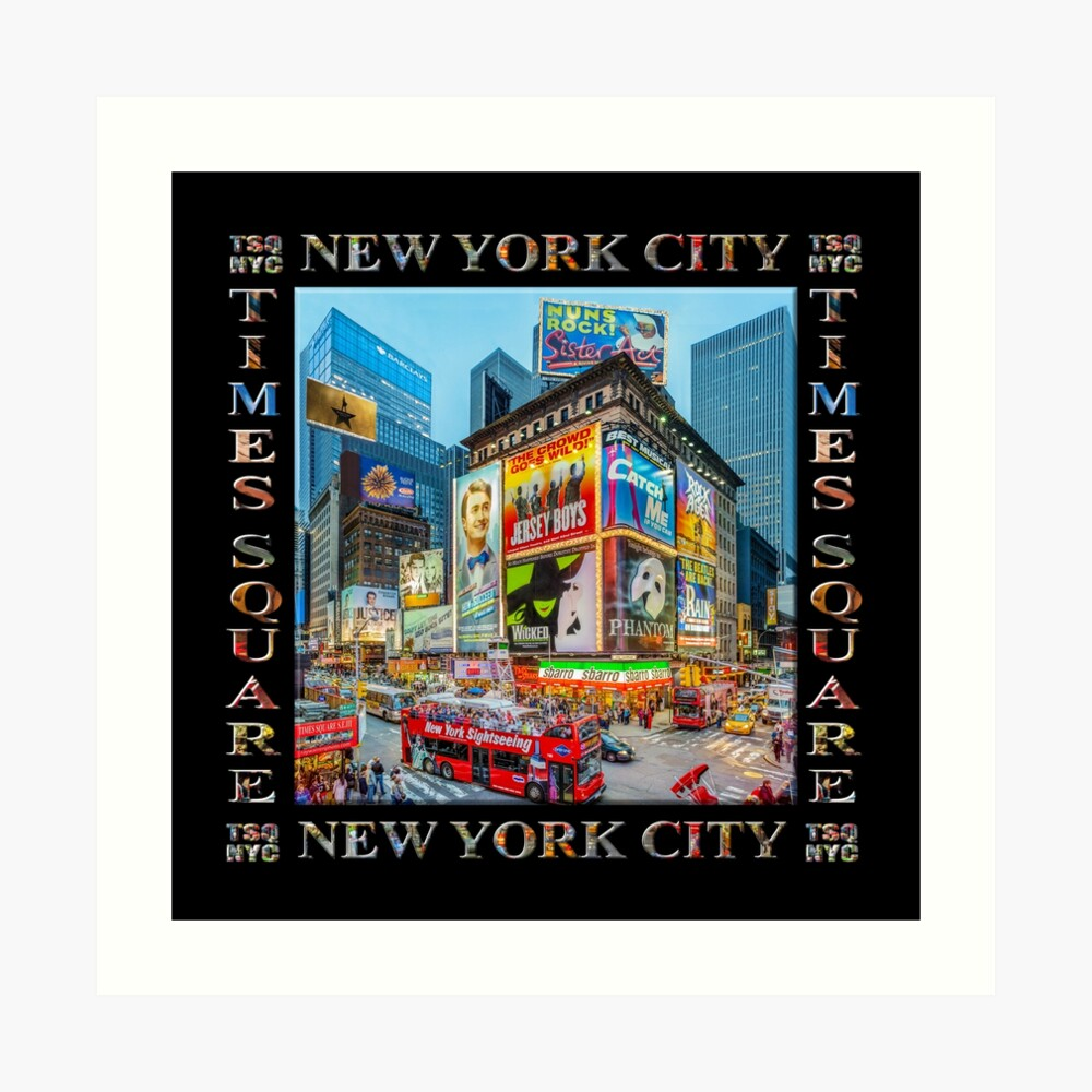 Times Square III Special Finale Edition Titled Poster II (on black) Art Print