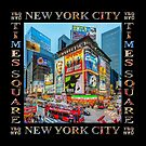 Times Square III Special Finale Edition Titled Poster II (on black) by Ray Warren