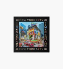 Times Square III Special Finale Edition Titled Poster II (on black) Art Board Print