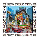 Times Square III Special Finale Edition Titled Poster II (on white) by Ray Warren