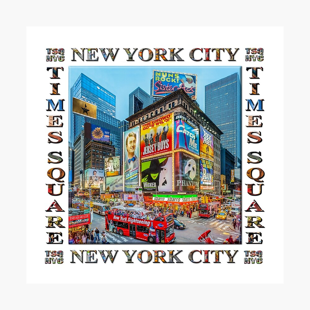 Times Square III Special Finale Edition Titled Poster II (on white) Photographic Print