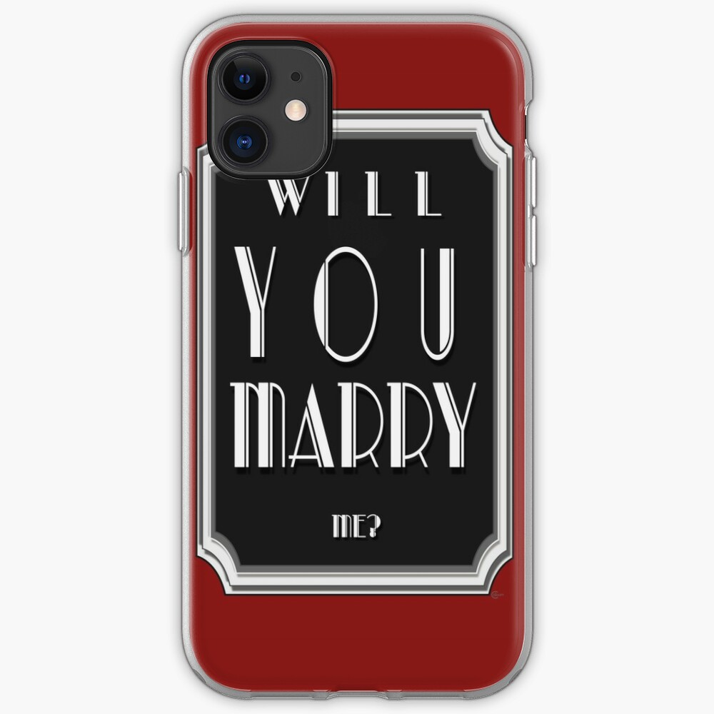 Will You MARRY me? art deco style iPhone Case & Cover