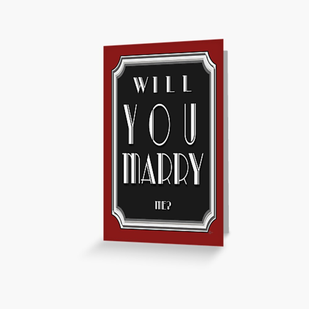Will You MARRY me? art deco style Greeting Card