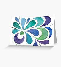 Watercolor Splashes Greeting Card