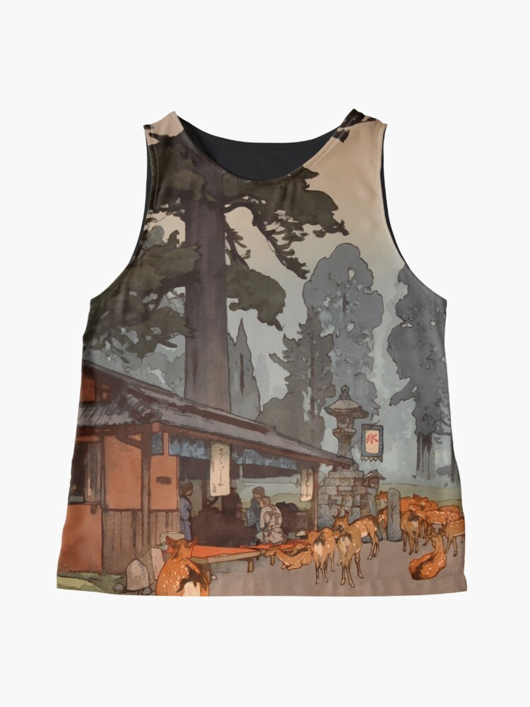 Alternate view of Way To Kasuga Shrine 1938 Hiroshi Yoshida Japanese Art Sleeveless Top