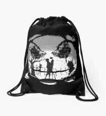 The Pumpkin Kiss Drawstring Bag