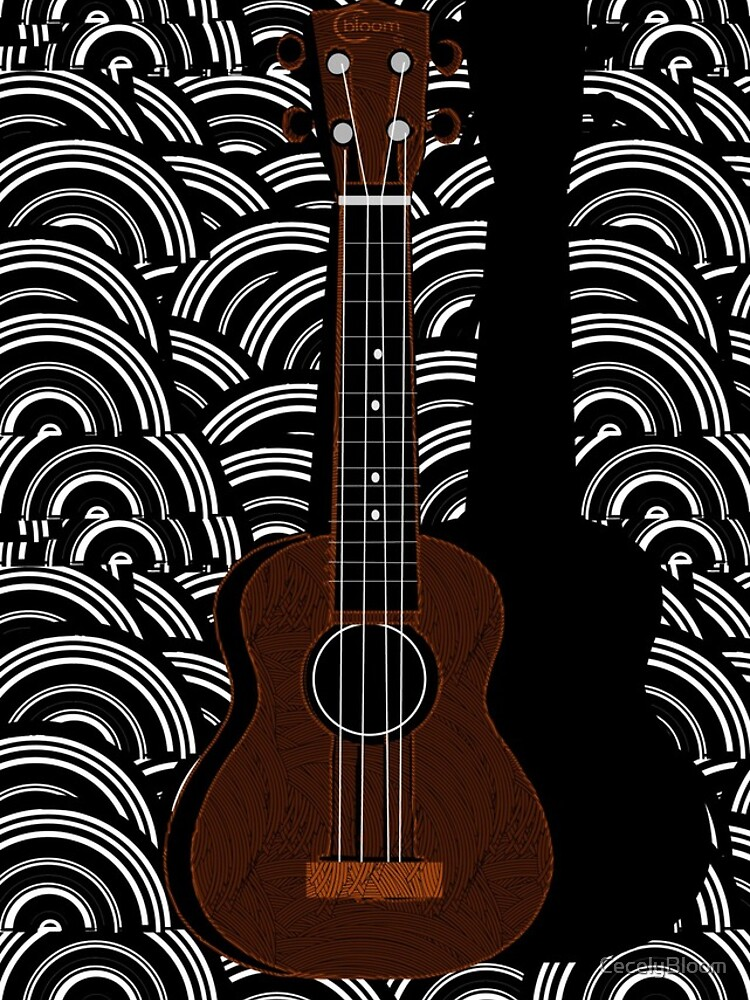 Ukulele Pop Art Deco  by CecelyBloom