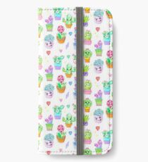 Crystal Cactus Repeating Pattern iPhone Wallet/Case/Skin