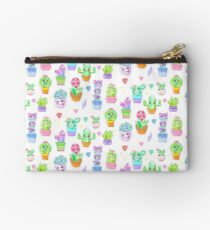 Crystal Cactus Repeating Pattern Zipper Pouch