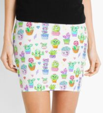 Crystal Cactus Repeating Pattern Mini Skirt