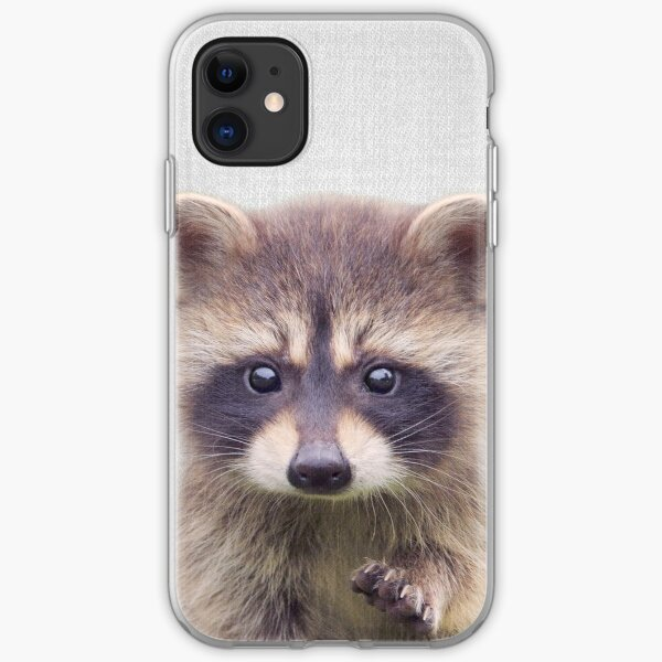 Raccoon - Colorful iPhone Soft Case