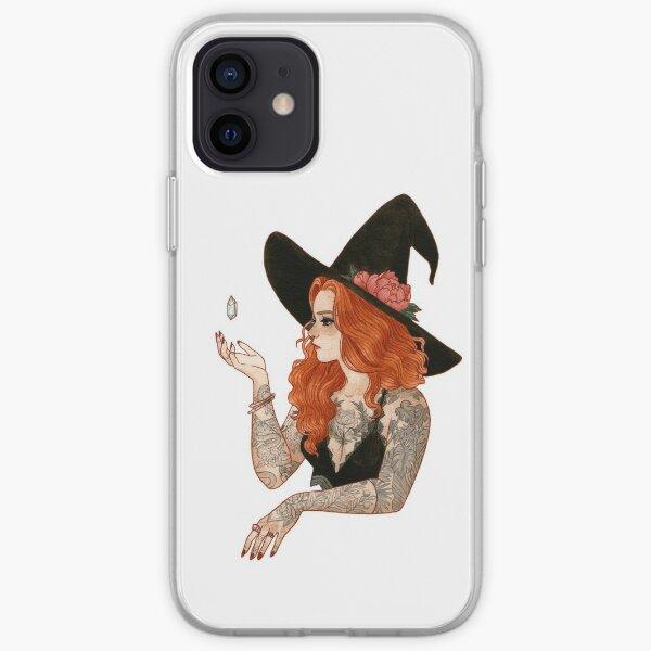 Bruja tatuada roja Funda blanda para iPhone