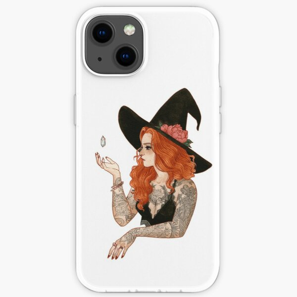 Red tattooed witch iPhone Soft Case