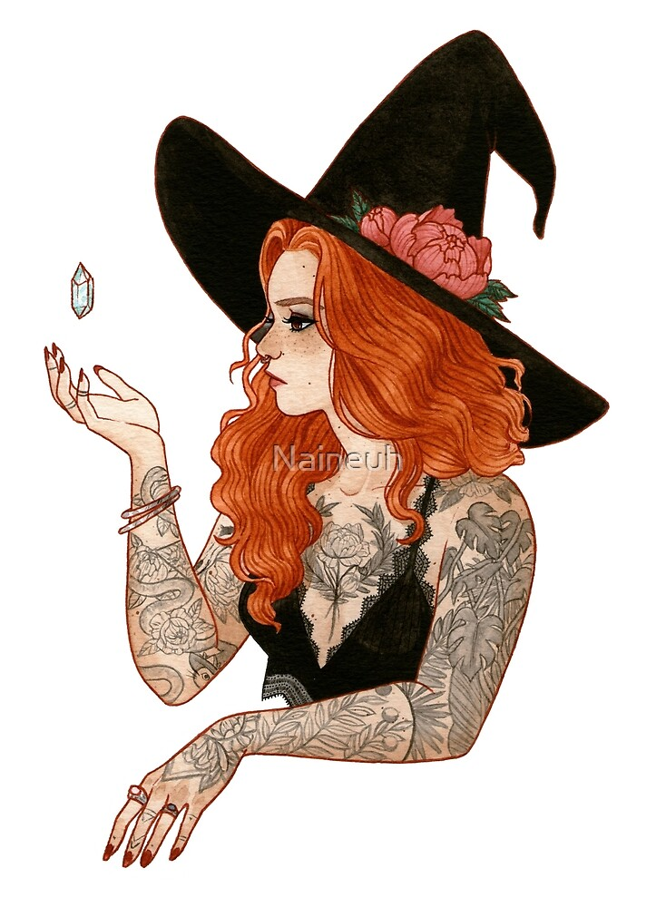 « Red tattooed witch » par Naineuh
