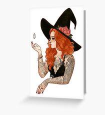 Red tattooed witch Carte de vœux
