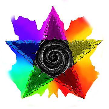 Pentagram Design 3 by GhostImageArt