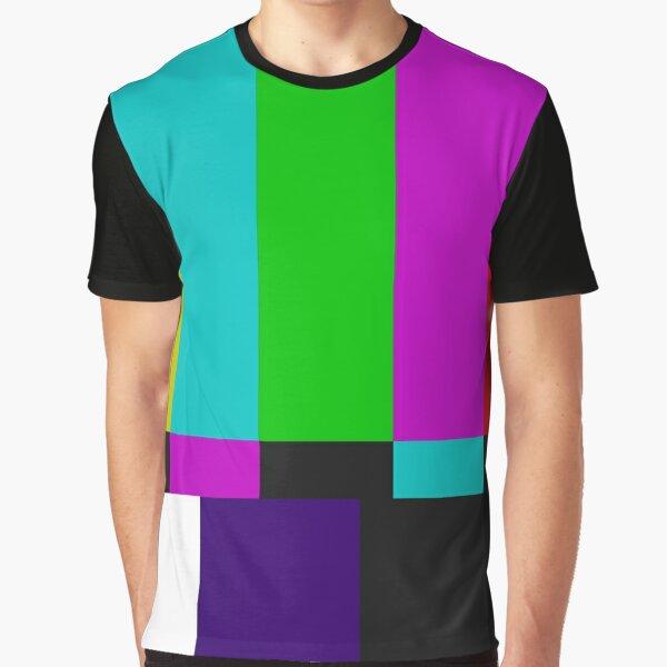 TV SMPTE Color Bars Graphic T-Shirt