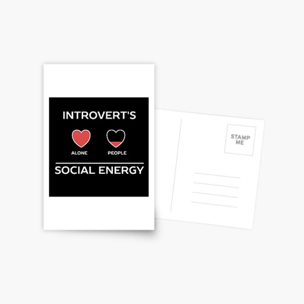 Funny Introvert Humour  Postcard