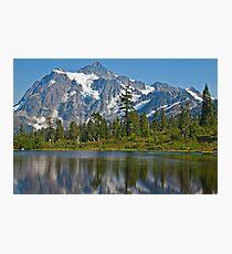 Mt. Shuksan, Picture Lake (2) (North Cascades National Park) Photographic Print