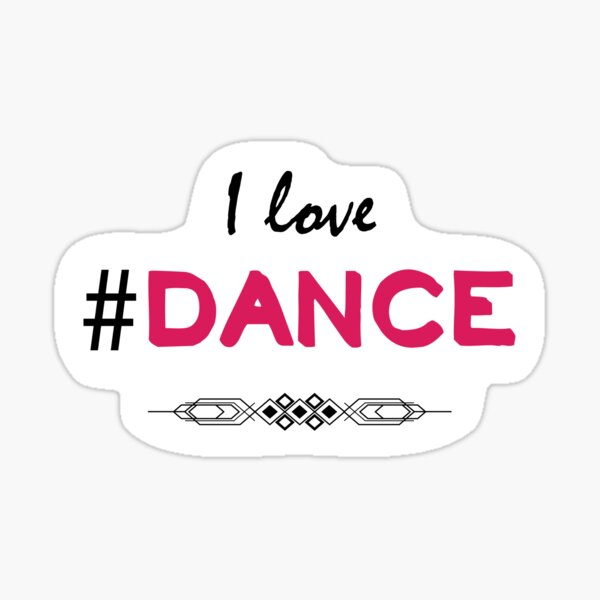 Me gusta la danza Pegatina