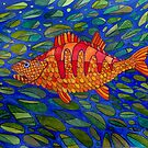 427 - STYLISED PERCH - DAVE EDWARDS - WATERCOLOUR - 2018 by BLYTHART