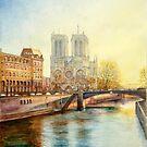 Paris Couche de Soleil - Paris Sunset by Dai Wynn