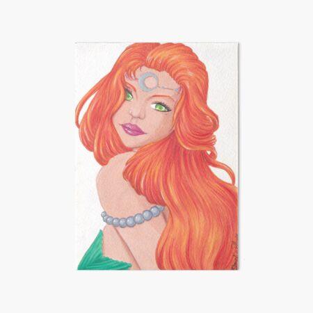 Sirène rousse, chevelure flamboyante Impression rigide