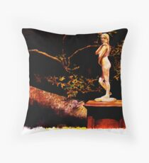 Statue at Night Throw Pillow