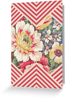 Candy Floral Chevron by Zeke Tucker