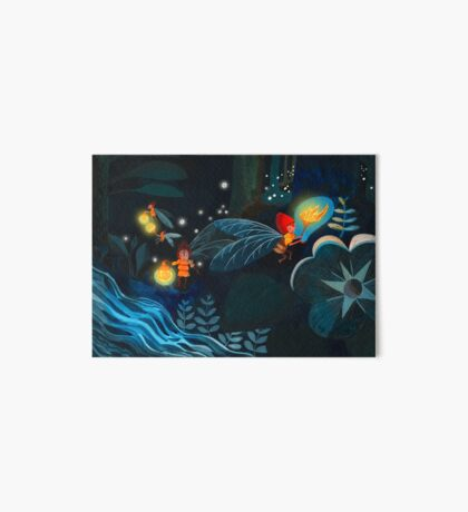 Fireflies Art Board Print