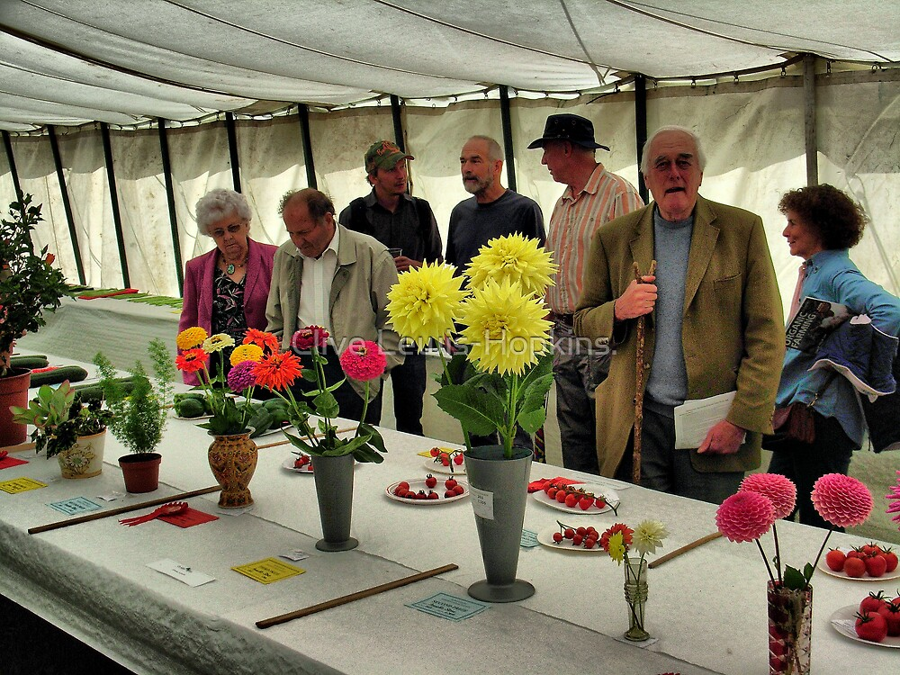 The Show Marquee at Hawkesbury Upton Horticultural Show. by Clive Lewis-Hopkins.