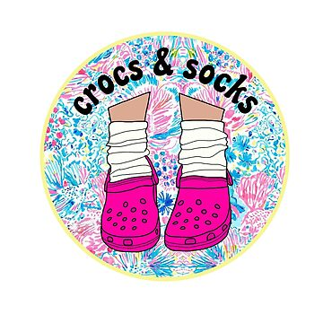 Crocs and Socks Pattern by abbyconnellyy