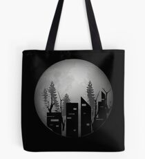 Moon Planet Earth Anet Tote Bag