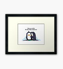 I Like You a Lottle Penguins Framed Print
