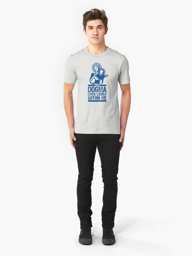 Alternate view of Dogma Lives Loudly Within Mary the Madonna Slim Fit T-Shirt
