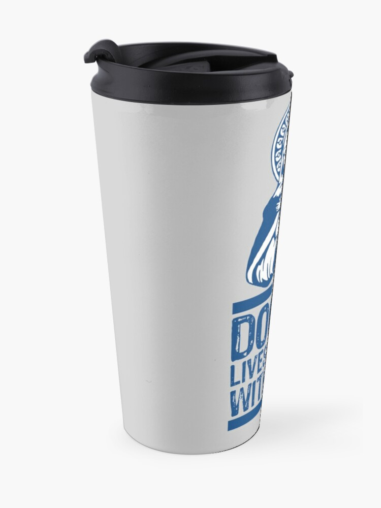 Alternate view of Dogma Lives Loudly Within Mary the Madonna Travel Mug