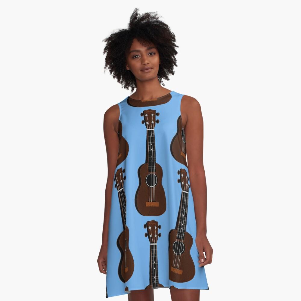 Ukulele Blues  A-Line Dress Front