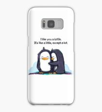 I Like You a Lottle Penguins Samsung Galaxy Case/Skin