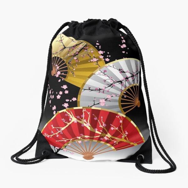 Japanese fans Drawstring Bag