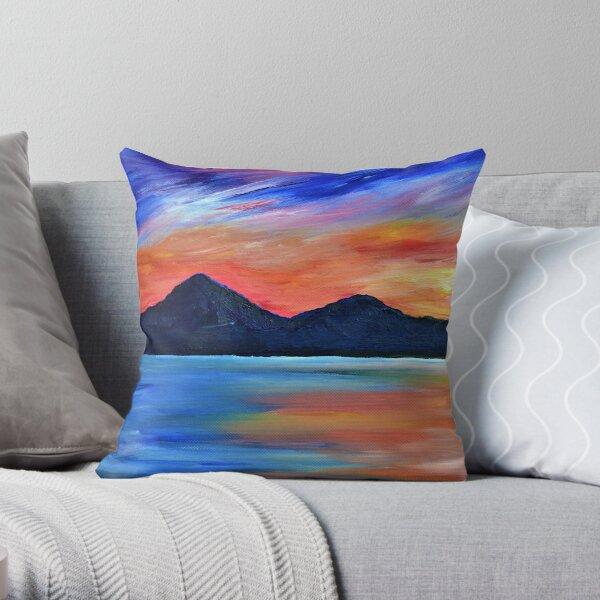 Sunset at Murlough -  Irish landscape painting  Throw Pillow