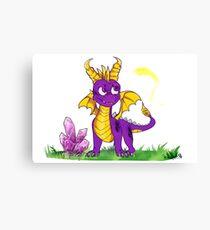 funky purple dragon Canvas Print
