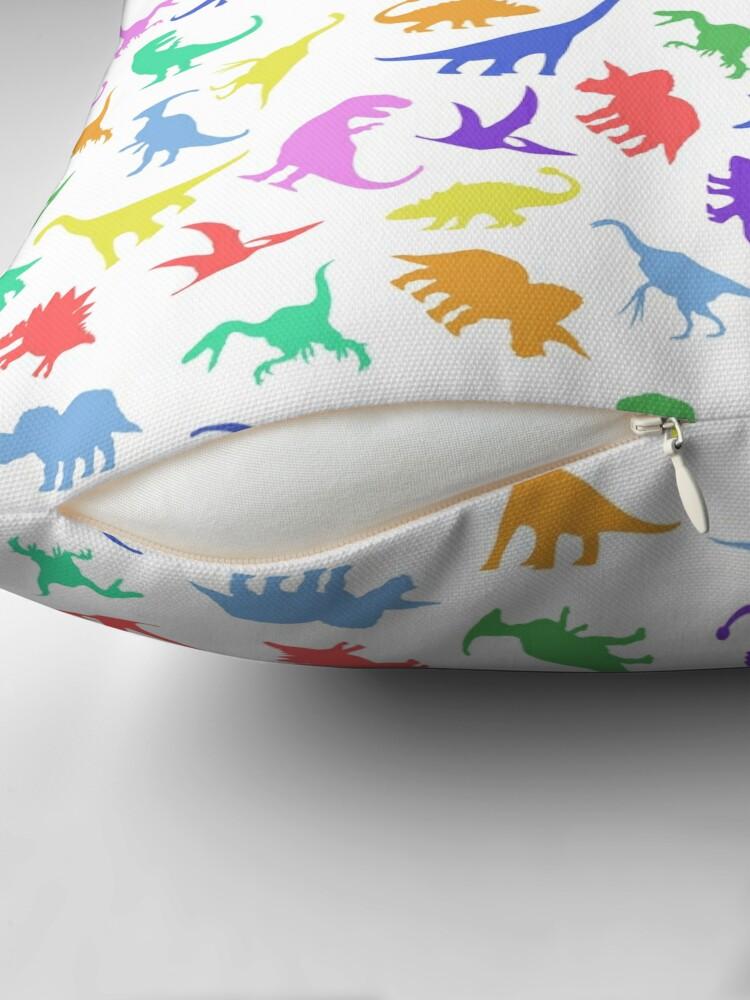 Alternative Ansicht von Spaß-Dinosaurier-Muster Bodenkissen