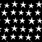 Star Print White On Black by meandthemoon