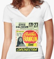 Aretha  Women's Fitted V-Neck T-Shirt