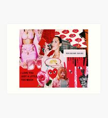 RED FASHION COLLAGE POSTER Art Print