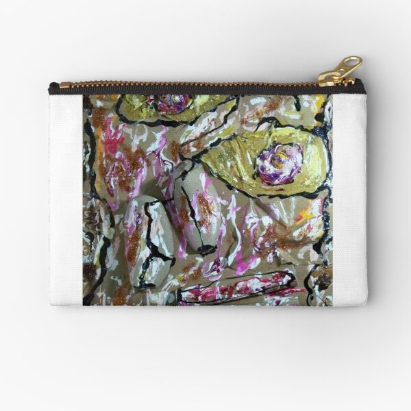 Homage to Dubuffet's Homage to Klee's Senecio (if it existed)  Zipper Pouch