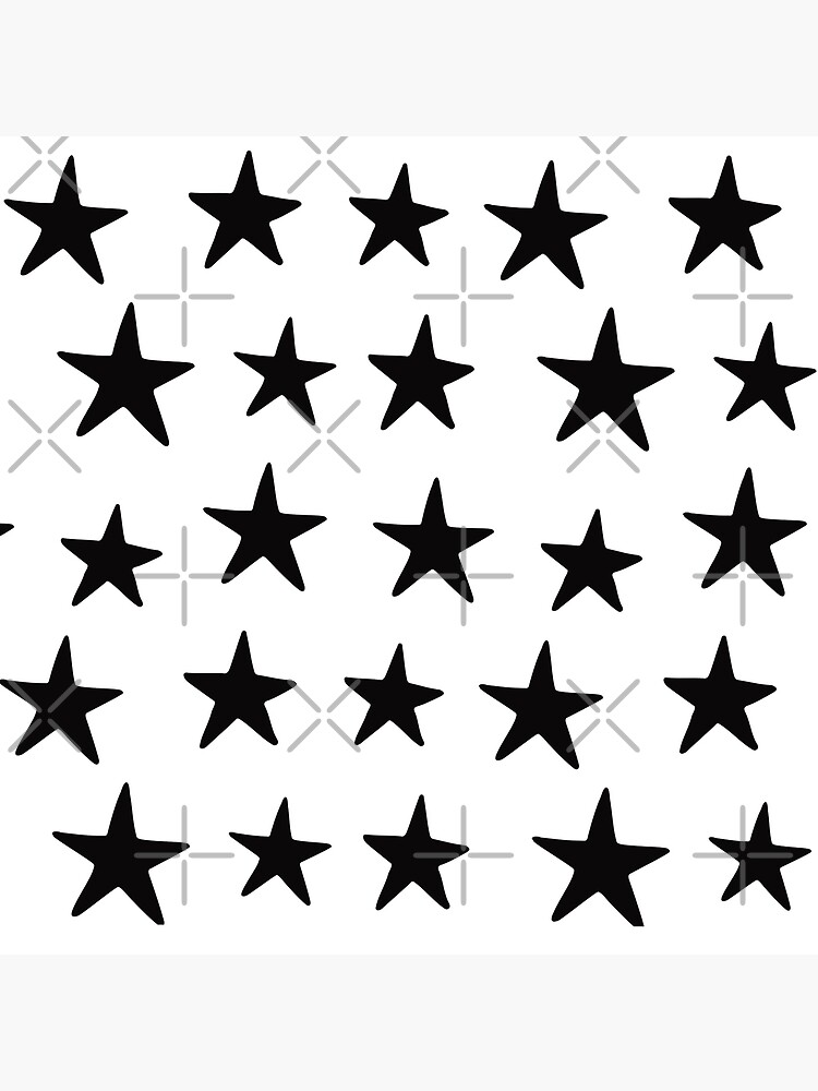 Star Pattern Black On White  by meandthemoon