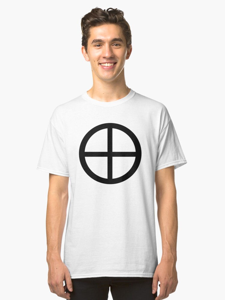 Solar Cross or Earth Symbol Classic T-Shirt Front