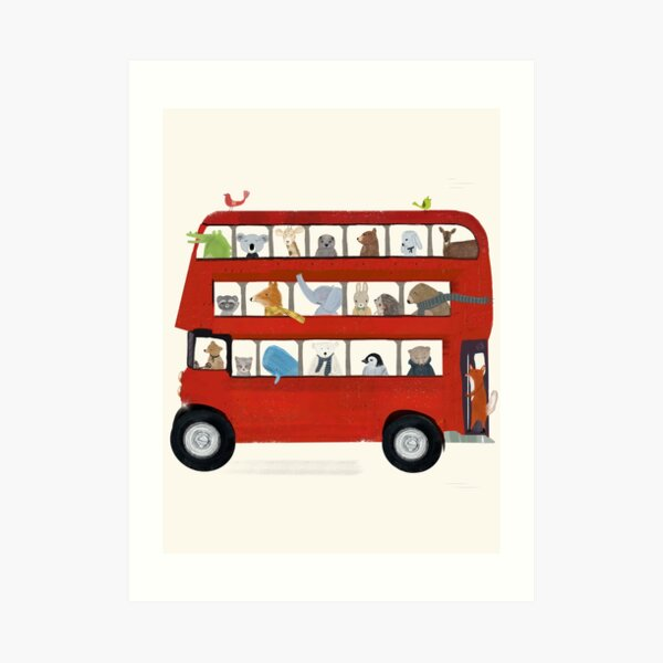 the big little red bus Art Print