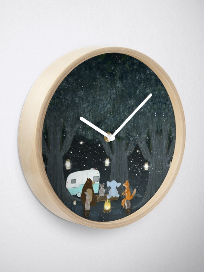Alternate view of camping time Clock